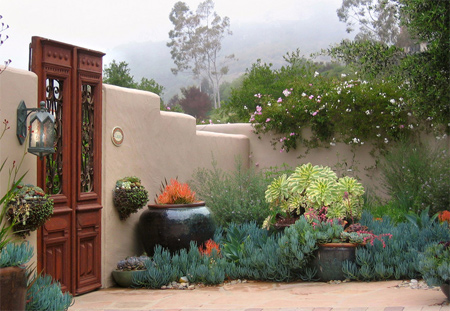 A Dry And Dusty Garden Is Transformed Into A Wonderful Oasis With The  Addition Of Architectural Elements And Hardy Plantings.