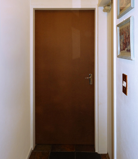 how to cut a hollow core door lengthwise