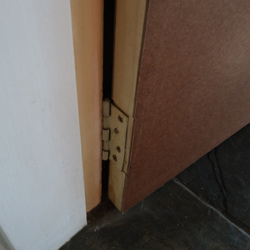 Replace interior hollow-core door