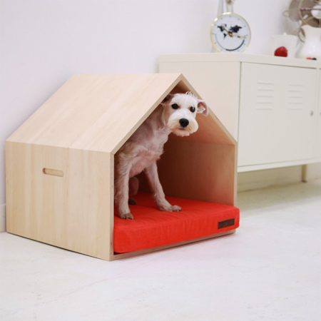 Home dzine designer homes for pets for Architecture and design dog house