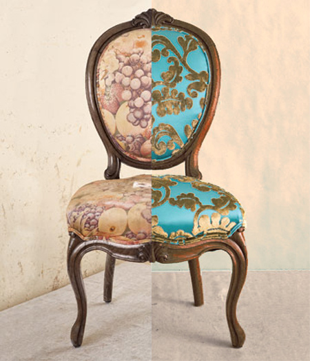 reupholster upholster recover dining chair - HOME DZINE Home Decor Reupholster An Antique Or Vintage Chair