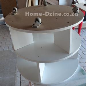 diy upholstered shoe carousel storage