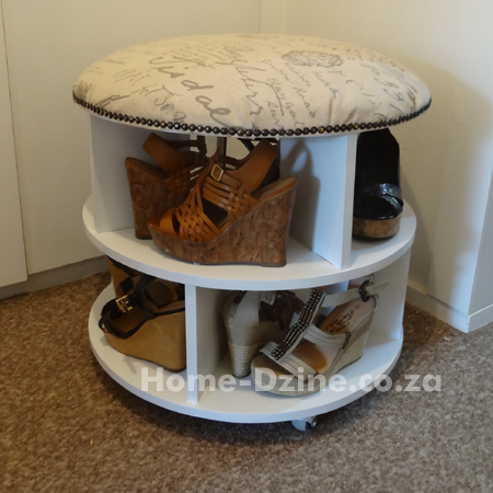 by-step project on how to make your own shoe carousel or turntable