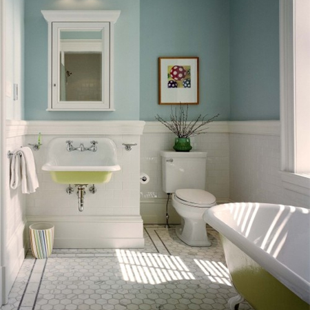 Home dzine decorate with turquoise and yellow for Bathroom designs za