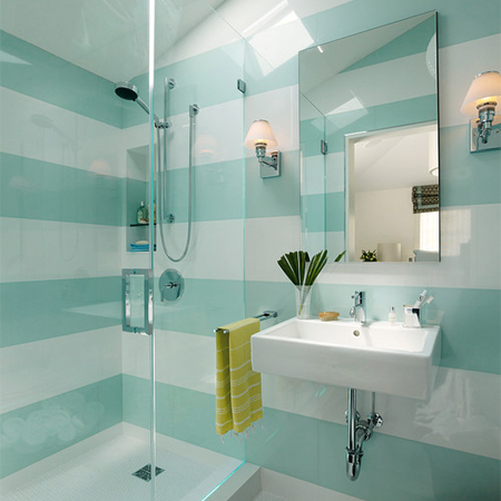Home dzine decorate with turquoise and yellow - Yellow and turquoise bathroom ...