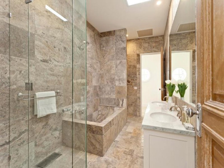 marble travertine bathroom