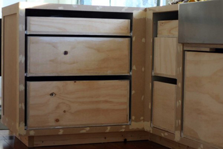 building kitchen cabinets with plywood home dzine kitchen kitchen cabinets made of plywood 351