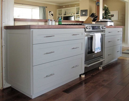 HOME DZINE Kitchen Kitchen cabinets made of plywood