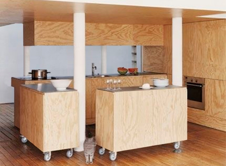 Marine Ply For Kitchen Cabinets : HOME DZINE Kitchen  Plywood kitchen designs