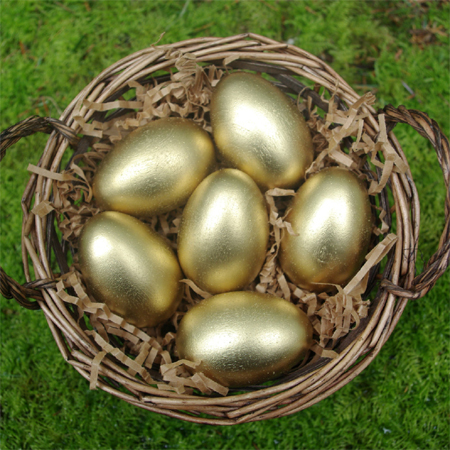 Easter egg ideas gold