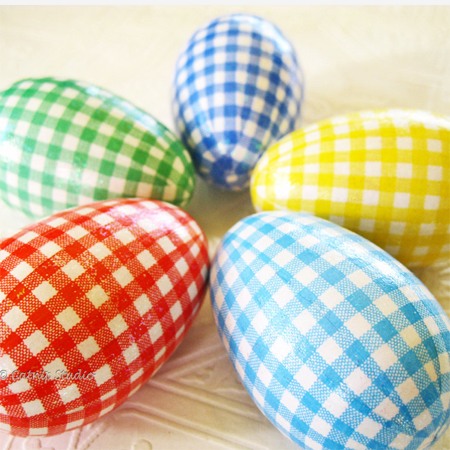 Easter egg ideas gingham