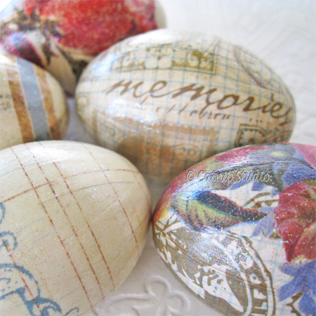 Easter egg ideas decoupage