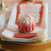 Protea place card holders or table decor