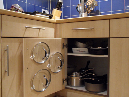 door storage idea kitchen cabinet to hold pan and pot lids