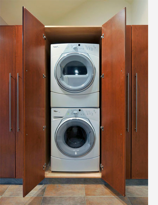 Home Dzine Kitchen Space For A Washing Machine And