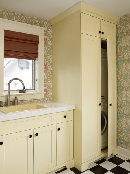 Home dzine kitchen space for a washing machine and tumble dryer - Tumble dryer for small space pict ...