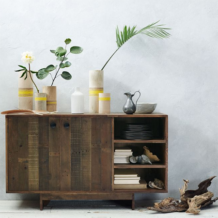 reclaimed timber wood console server buffet
