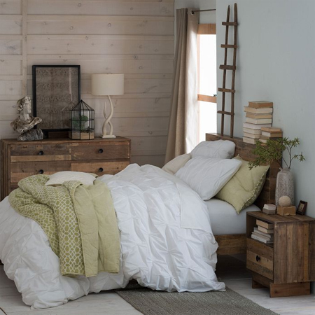 reclaimed timber wood bed furniture