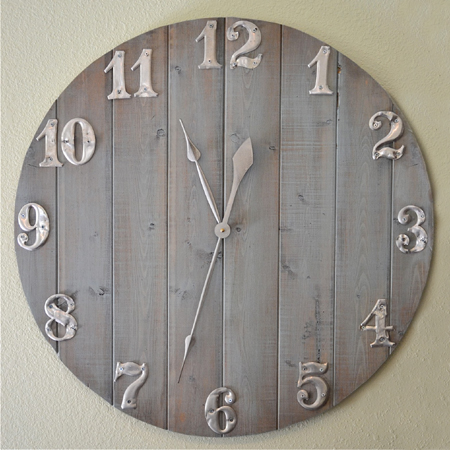 Home Dzine Craft Ideas How To Make A Large Clock