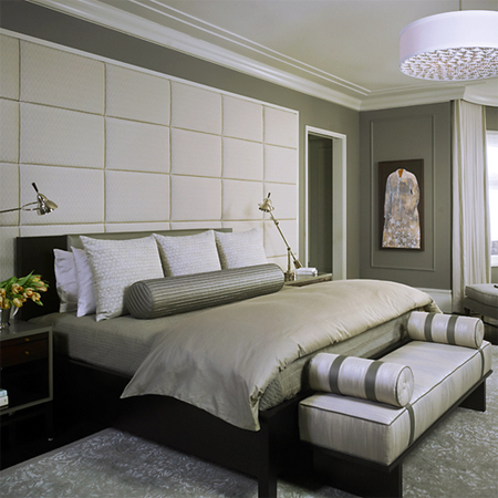 Home dzine bedrooms create a boutique hotel style bedroom for Designer inspired bedding