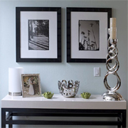 How to mount framed photos or images