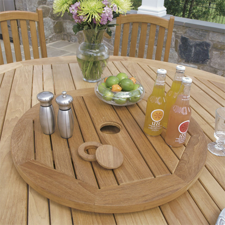 lazy susan in dining table