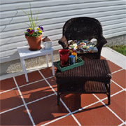 Paint a concrete slab or patio
