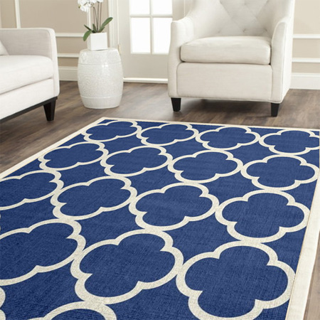 Home dzine home decor use acrylic paint to stencil design on a rug or mat - Home decorators carpet paint ...