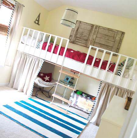 Home dzine home diy make a hanging or suspended bed - How to build a hanging bed ...