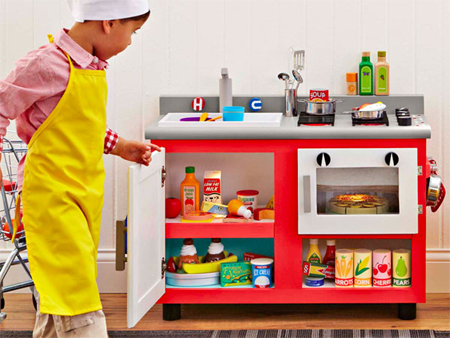 HOME DZINE Home DIY | DIY kids mini-kitchen
