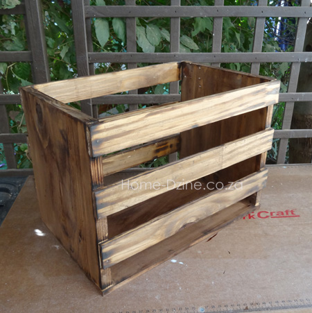 Home dzine home diy how to make your own wine crate for Wine crate diy