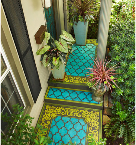 Home dzine garden decorate a porch with paint for Porch floor paint ideas