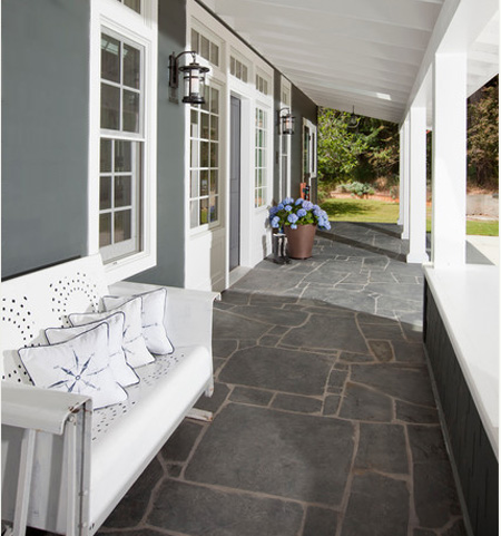 Home dzine decorate a porch with paint for Porch floor paint ideas