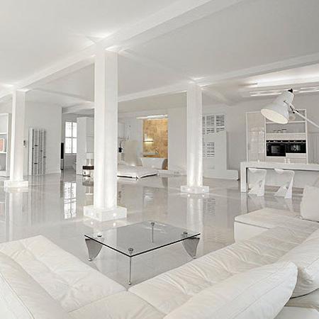 Pavimenti Bianchi Lucidi. Casa Tamburro Il Bagno Padronale. Awesome ...