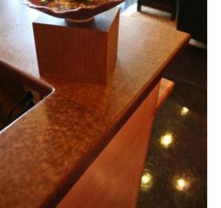 Kitchen Countertop Recycled Materials : ... Green Living A kitchen countertop made from 100% recycled materials