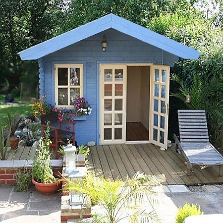 Remarkable Home Dzine Garden A Garden Shed Hut Or Wendy House Becomes A Largest Home Design Picture Inspirations Pitcheantrous