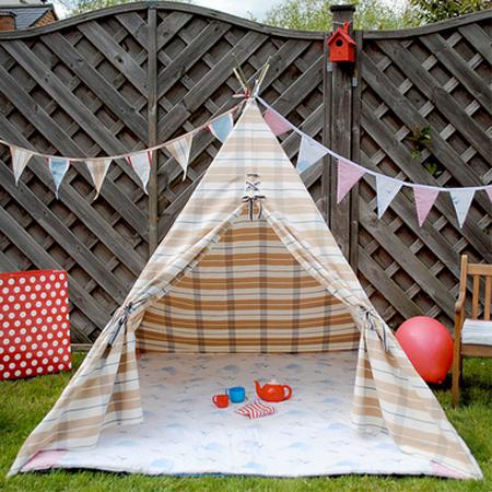 HOME DZINE Craft Ideas | Make a wigwam or teepee for ...