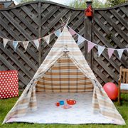 Cosy wigwam for winter play outdoors or teepee for indoor play