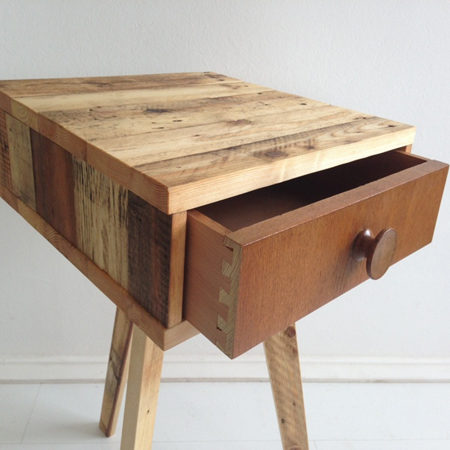 Manufactured using reclaimed timber pallets and wood, the piece is sanded  and treated with Danish wood ...