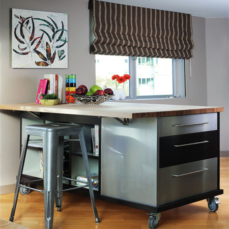 Butcher Block Breakfast Bar Kitchen : HOME DZINE Kitchen Choose a kitchen island style