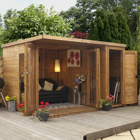 Home dzine garden a garden shed hut or wendy house as a for Diy garden room