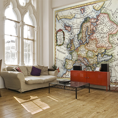 Home dzine home decor see the world in your own home decorate with world maps wallpaper gumiabroncs Images