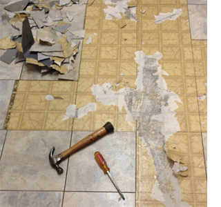 Good How To Tile A Kitchen Floor Remove And Strip Vinyl Floor