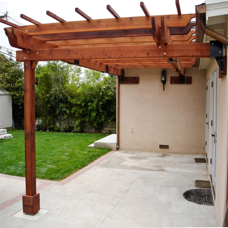 simple practical inexpensive affordable pergola patio