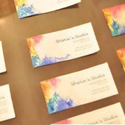 Colourful and unique business cards