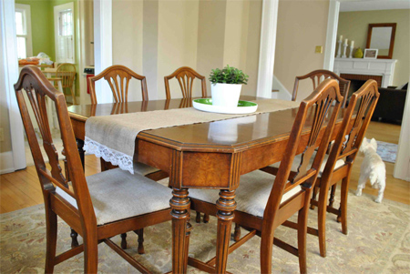 spray paint dining table chairs furniture