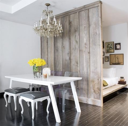 Home Dzine Bedrooms Whitewashed And Weathered Wood Panels
