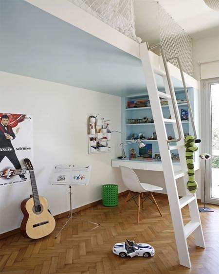 HOME DZINE Bedrooms | Loft bed ideas for children's rooms