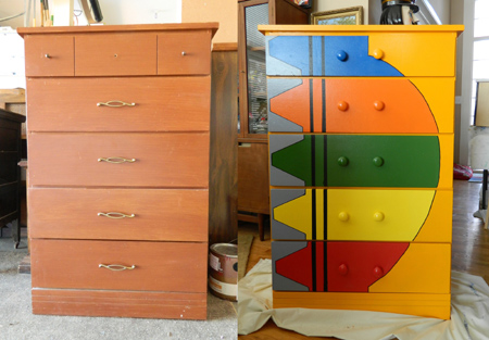 bright coloured furniture. ideas how to paint furniture bright coloured l