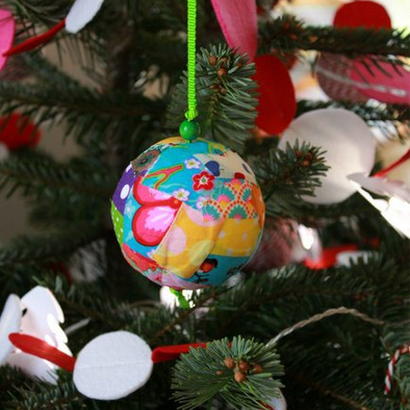 fabric scrap christmas ornaments  festive holiday christmas decoration